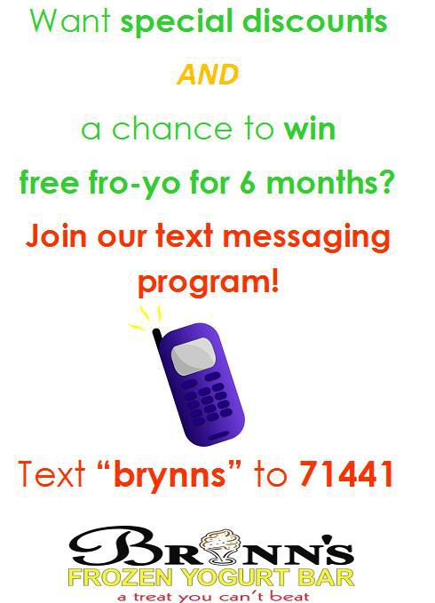 Join Brynns Yogurt Text Club