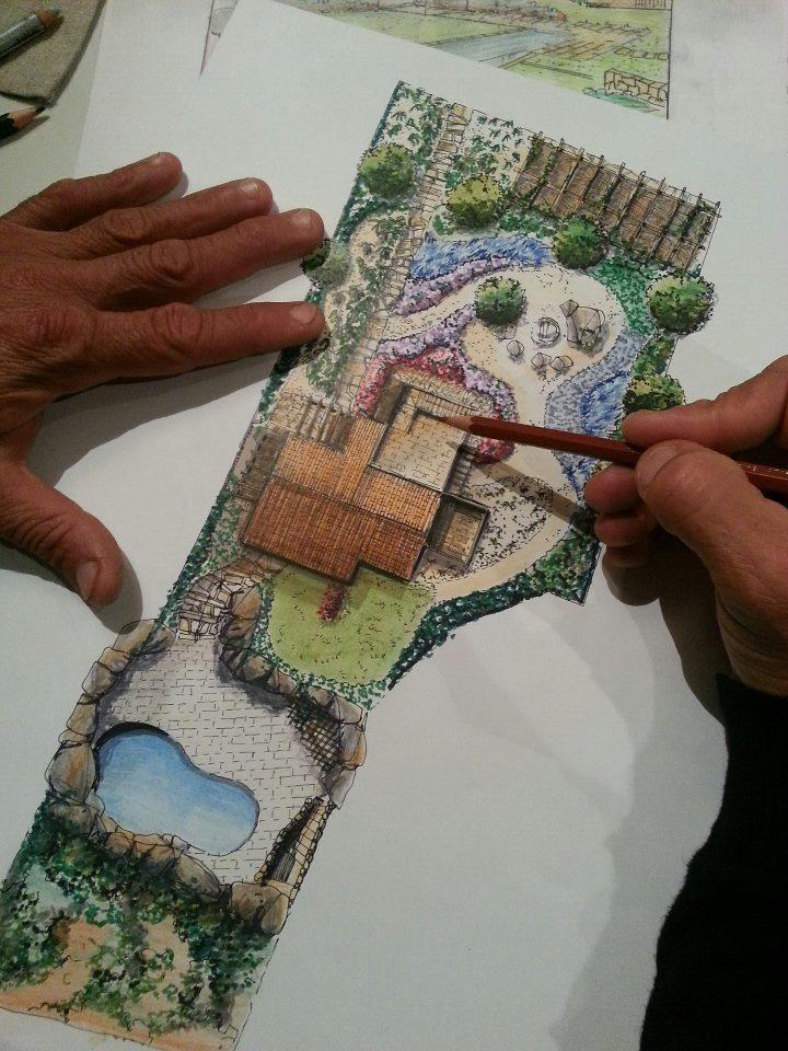 Progettazione giardini olbia costa smeralda progetto for Disegno giardini