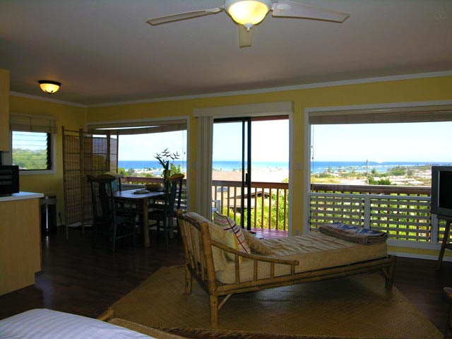 Green Coconut Studio Living Area - Kapaa, Kauai, Hawaii