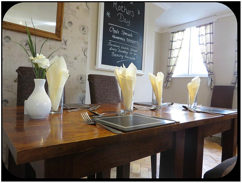 Table at the Roebuck Inn Brimfield