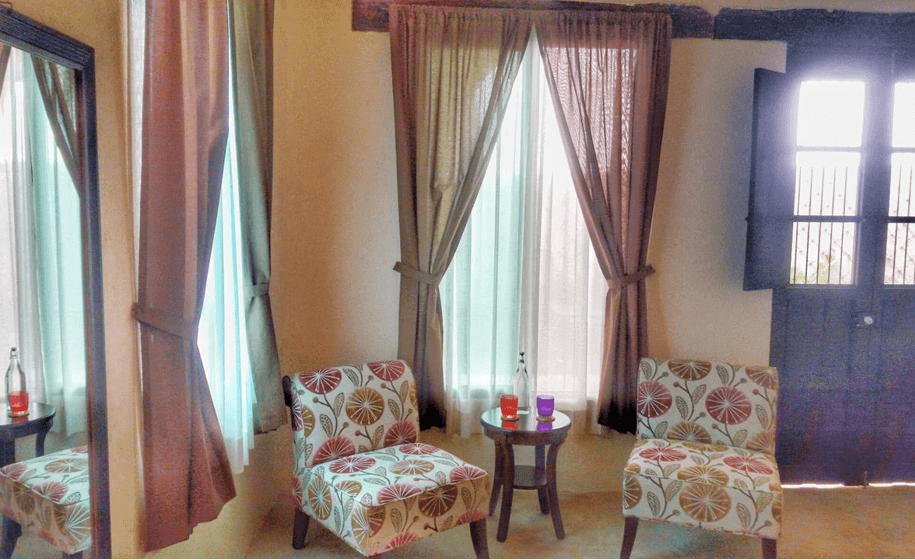 Room 2, sitting area,Casa Dos Lirios, Boutique Bed and Breakfast, B&B, Merida, Yucatan, travel Merida, travel Yucatan, Merida B&B, Merida accommodations