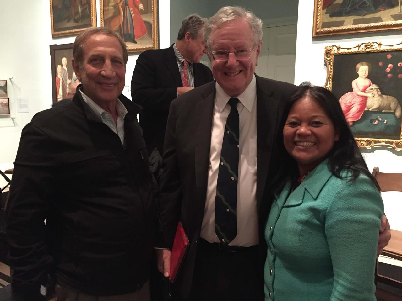 Dan and Elisea with Steve Forbes