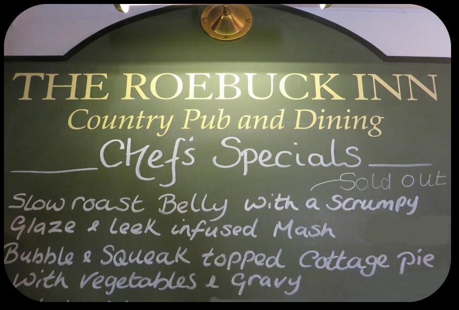 Chefs Specials at the Roebuck Inn Brimfield
