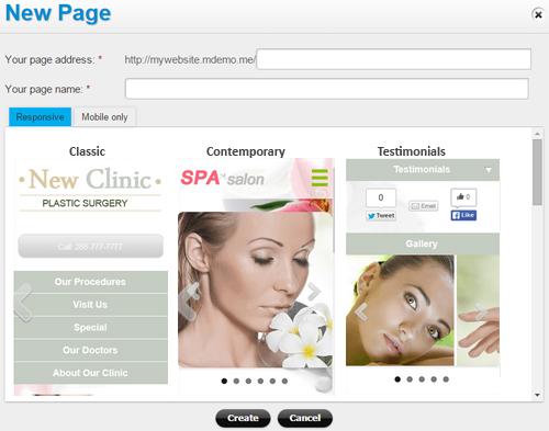 Responsive website - reseller options