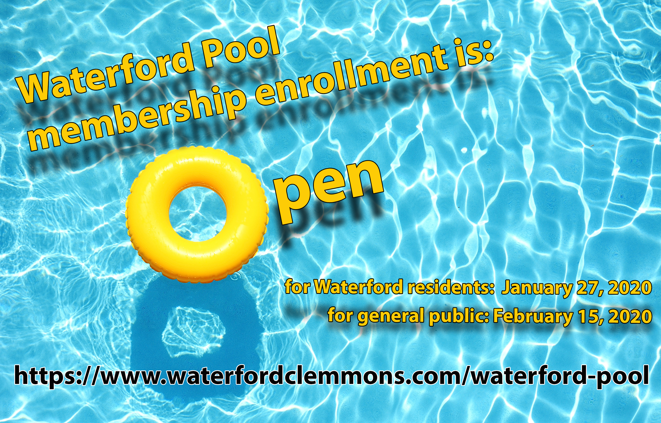 Waterford 2020 Pool Membership Information