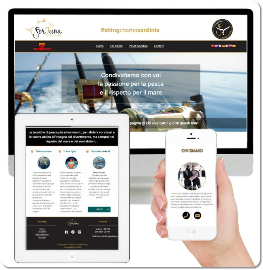 Realizzazione siti | ForTuna Fishing Charter | Olbia | bmob
