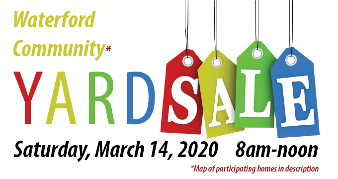 Waterford Neighborhood Yard Sale 2020