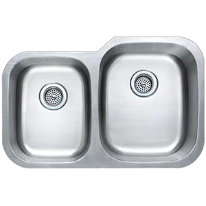 Offset 40/60 SS Square Sink