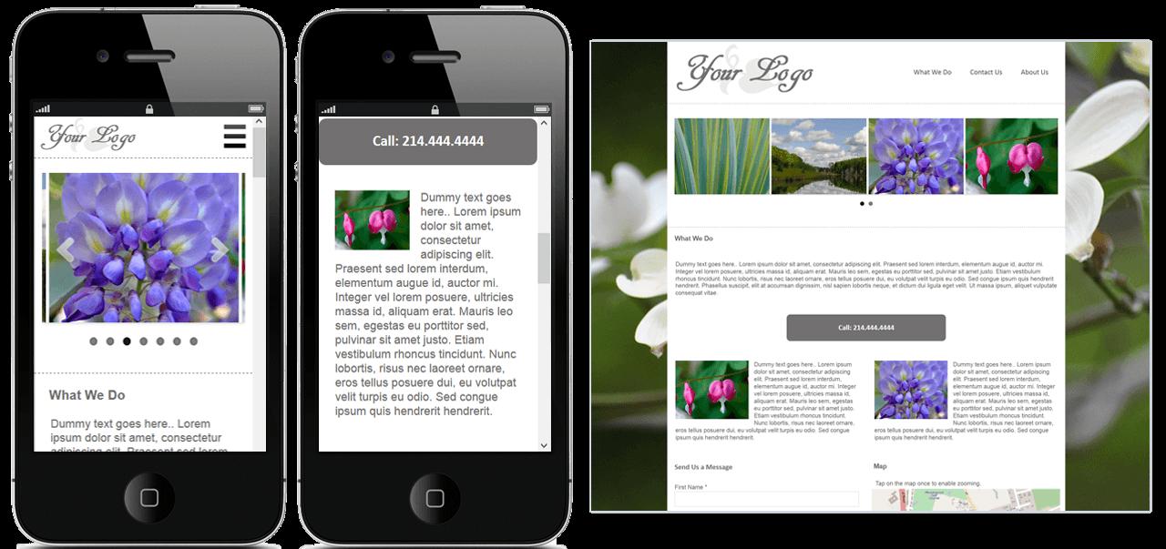 Responsive site creator