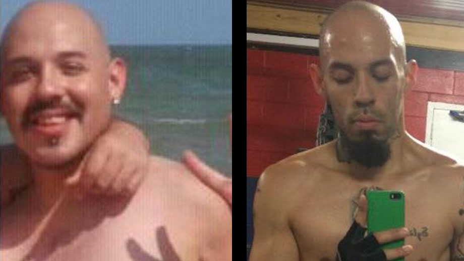 Tony Vega before and after personal training.
