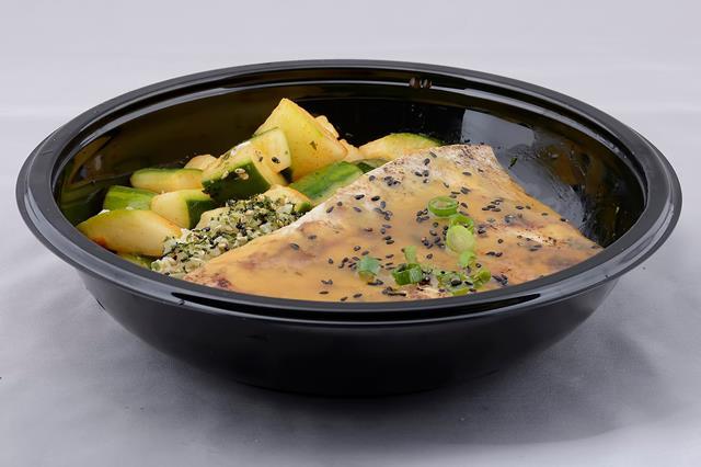 UmekesKona and UmekesPoke808 grilled mahi with miso sauce rice cucumber kim chee