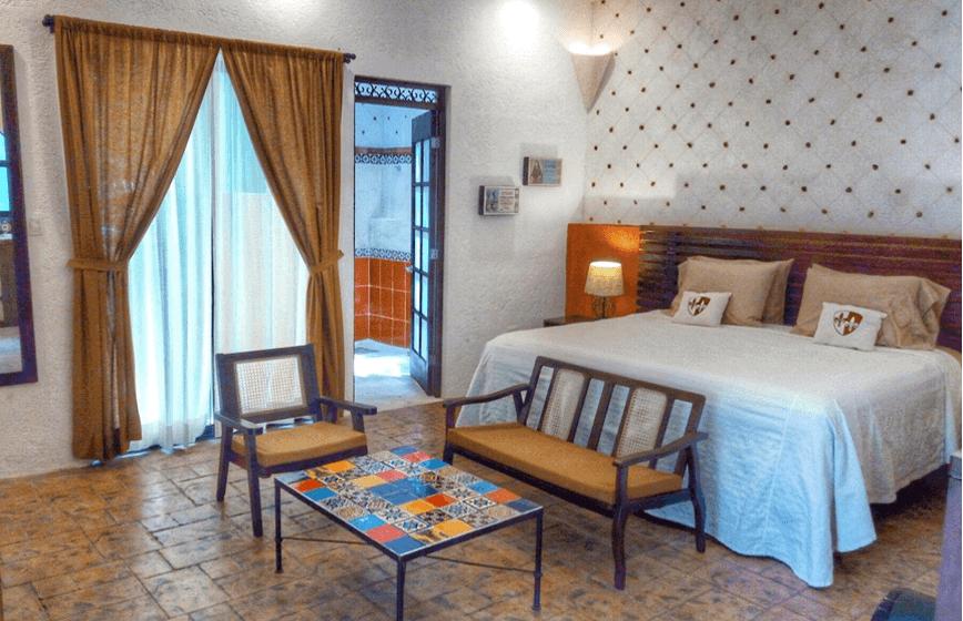 Room 5, Efficiency Suite, Casa Dos Lirios, Boutique Bed and Breakfast, B&B, Merida, Yucatan, travel Merida, travel Yucatan, Merida B&B, Merida accommodations