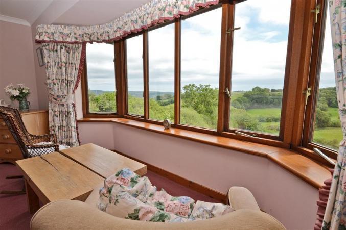 Master bedroom with en-suite views
