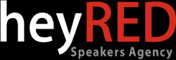heyRED Speakers Agency Logo
