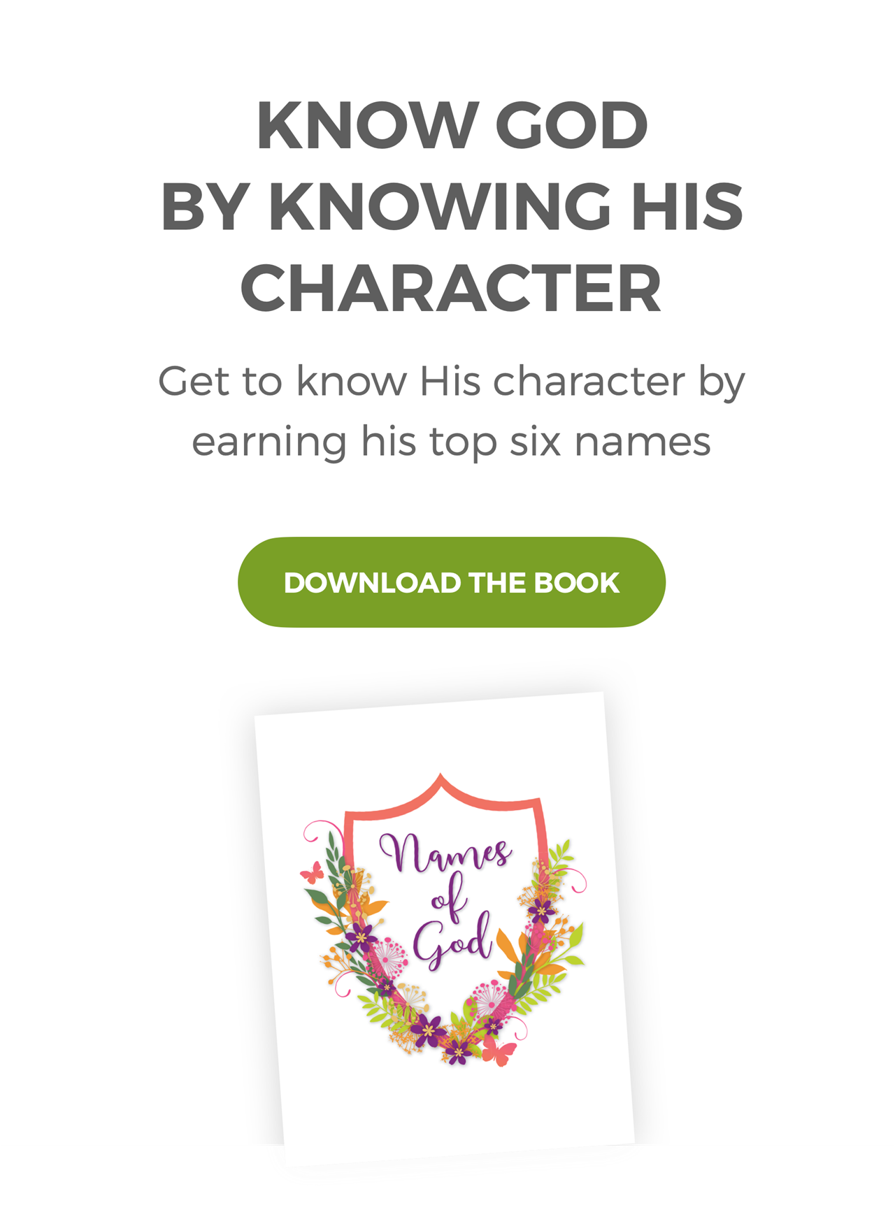 Download the Book - Know God by Knowing His Character