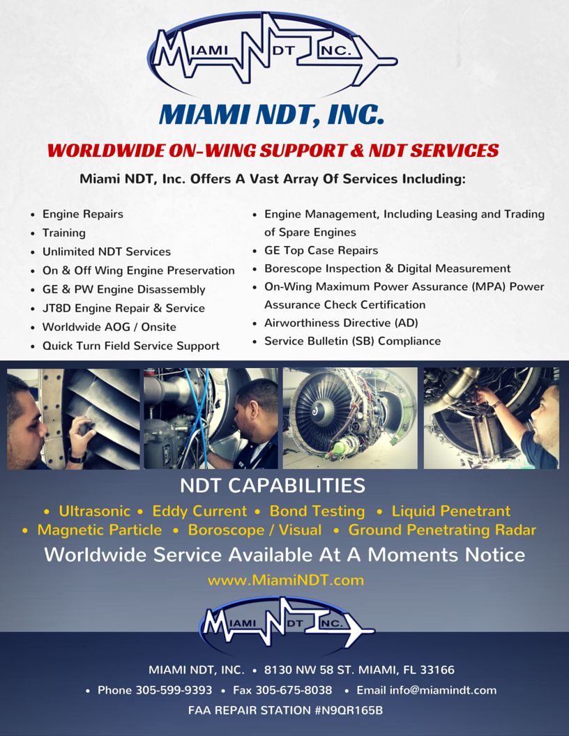 Miami NDT Engine Capabilities Brochure