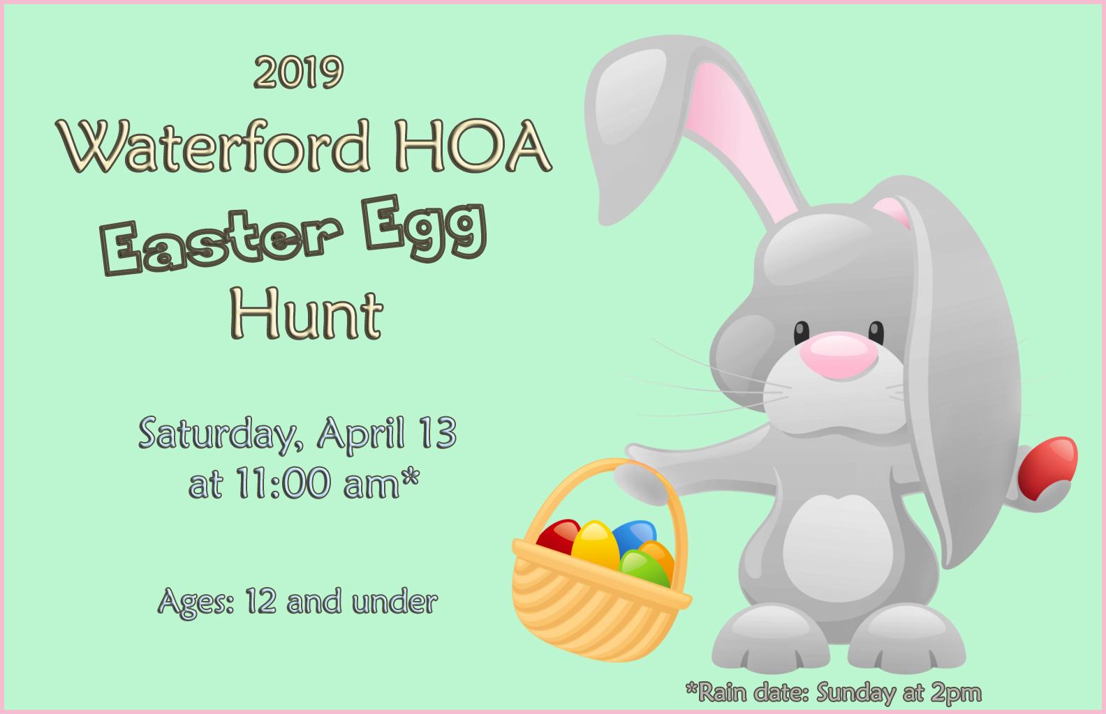 2019 Easter Egg hunt on April 13, 2019