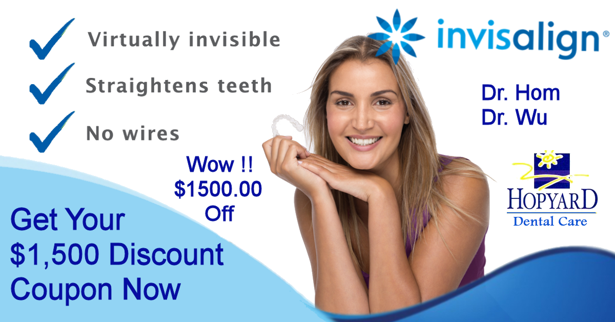 Coupon For $1,500 Off Invisalign Clear Braces