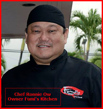 Fumi's Kitchen Owner Chef Ronnie Ow