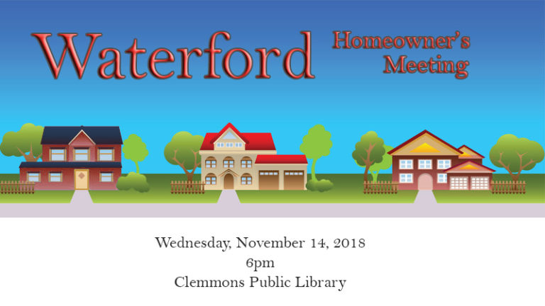 2018 Waterford Annual Meeting on November 14