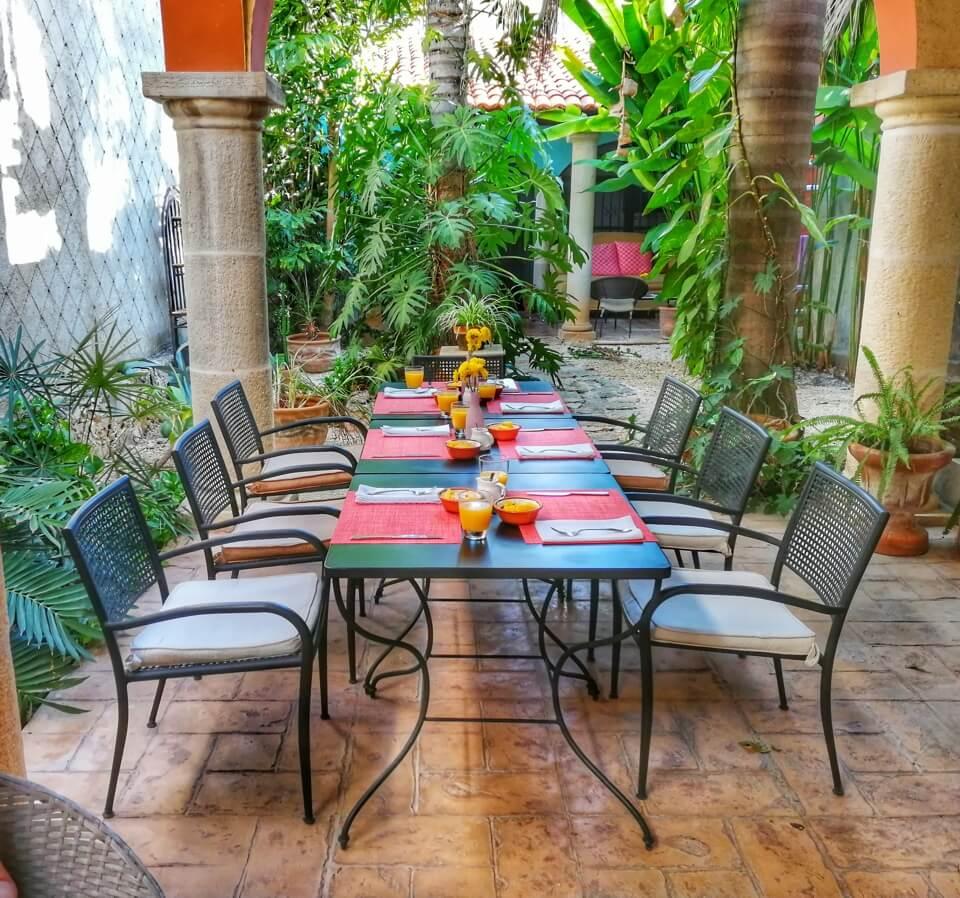 courtyard, Casa Dos Lirios, Boutique Bed and Breakfast, B&B, Merida, Yucatan, travel Merida, travel Yucatan, Merida B&B, Merida accommodations