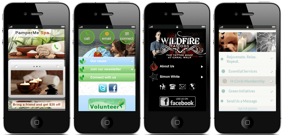 White Label mobile site builder