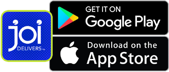 Get the Joi Delivers App on Android or iTunes