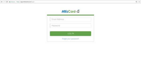 Individual MBizCard Portal