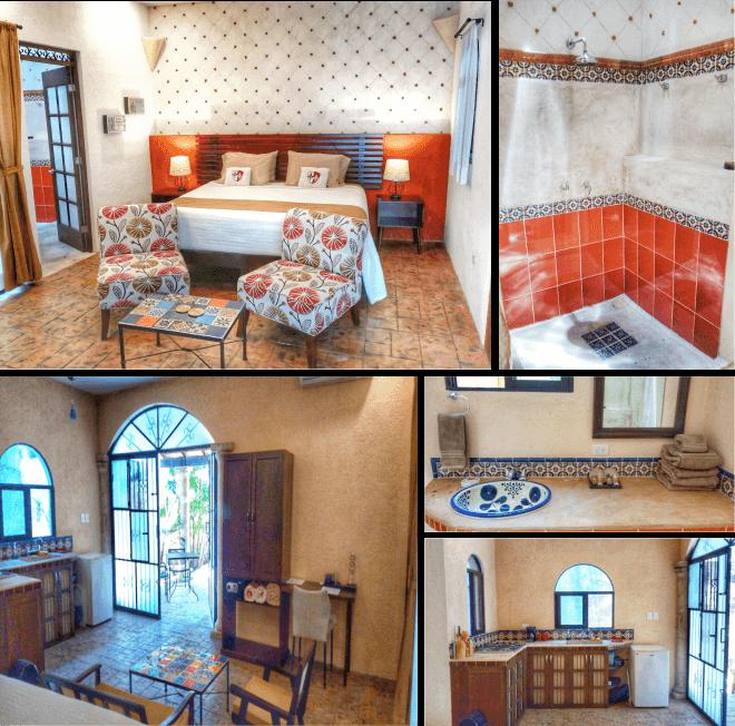 Room 5, King Efficiency, Casa Dos Lirios, Boutique Bed and Breakfast, B&B, Merida, Yucatan, travel Merida, travel Yucatan, Merida B&B, Merida accommodations