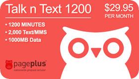 $29.95 1200 Talk, 3000Text + 100MBData